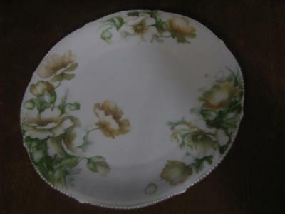 Beautiful Hand Painted Porcelain Floral Plate 8 3/4""