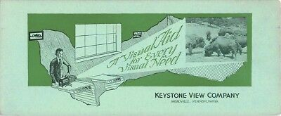 "Keystone View Company Meadville Pennsylvania advertising blotter 8"" by 3 1/2"""