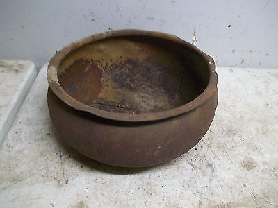 Lot C Rusty Rough Old Cream Separator Strainer Bowl Flower Pot Garden Planter