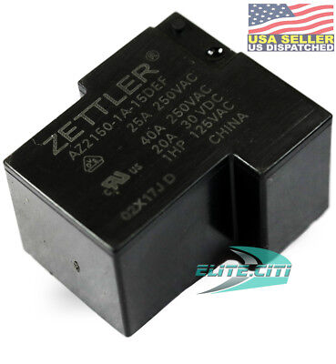 American Zettler 15VDC 256 Ohm 40A SPST -  Power Relay Part # AZ2150-1A-15DE F