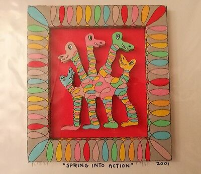 James Rizzi Bild  SPRING INTO ACTION 3-D 2001