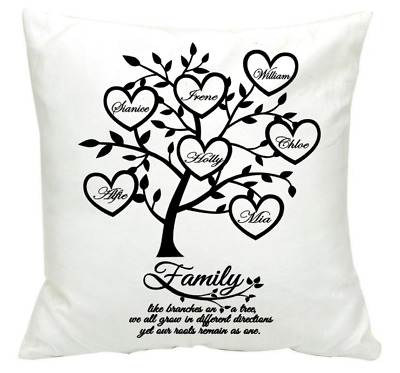 Family Tree Personalised Custom made Pillow Cushion Gift Present