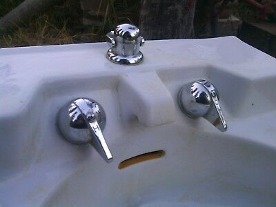 Vintage Crane sink with original faucet from remodeled farm house