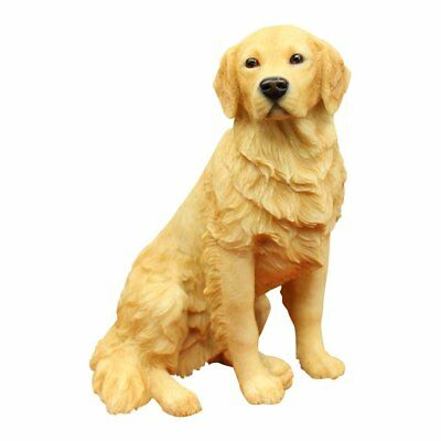 Resin Crafted Golden Retriever Statue - Puppy Dog Resin Figurine, Collector Item