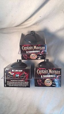 Set of 3 Captain Morgan Rum - Cannonball Drink Cups...Plastic..Very Cool....NEW