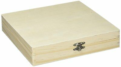 Wood Cigar Box Unfinished Pine Storage Wooden Boxes Sanded Smooth Gift Xmas