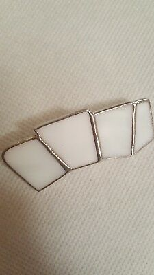 stained glass hair clips