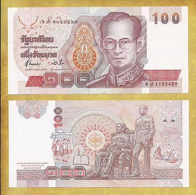 Thailand 100 Baht P-97 Unc Currency Banknote ***USA SELLER***