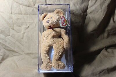 Authenticated TY Beanie Babies Curly Bear. All Errors Plus Sewing Error.  MWMT!