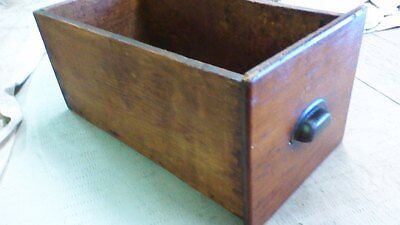 Larger Vintage wooden drawer box great patina and finish. Wall crate or shelf.