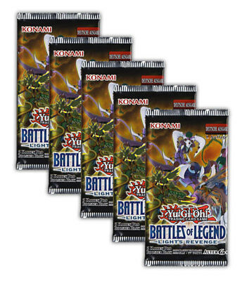 Yu-Gi-Oh! Battles of Legend Light's Revenge 5 Booster 1.Auflage deutsche Ausgabe