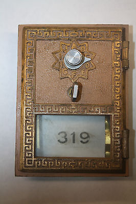 Solid brass US Post Office Box combination lock. Very nice condition.