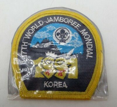 """Boy Scout 17th World Jamboree Mondial Korea 1991 Patch in Protective Sleeve 3.5"""""""