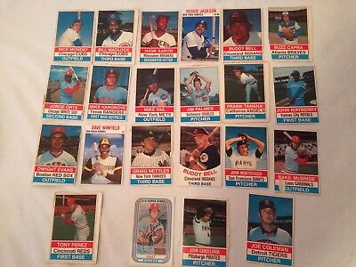 Assorted Lot of 22 1977 Vintage cut-out Baseball Cards