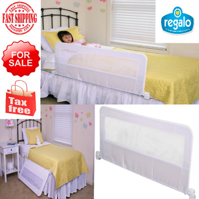 Regalo Swing Down Bedrail Net Guard Bed Rail Crib Toddler Elderly Child Safety