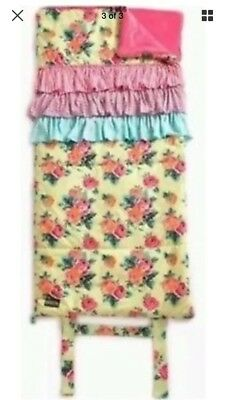 "Matilda Jane ROSY OUTLOOK Yellow Floral Sleeping Bag Once Upon 56"" X 27"" NWT"