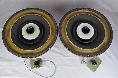 """Rare Vintage Pair Herald Electronics S-801A 12"""" Coaxial Speakers 8 Ohms USA Made"""
