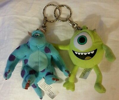Disney Pixar Monsters Inc Mike and Sully Plush Keychain Set, from Kraft Foods