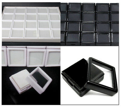 3x3cm 20Pc Gemstone Display Plastic Box Storage Container For Diamond Wholesale$