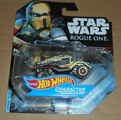 STAR WARS Rogue One Mattel HOT Wheels Character Cars 1x Acarif Stormtrooper