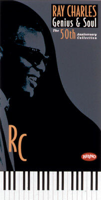 Ray Charles Genius 50th Anniversary Collection 5 CDs Booklet Box Set *PRISTINE*