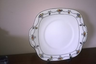 Crown Staffordshire  - Art Deco - Cake Plate - Vintage Original- Hand Painted -