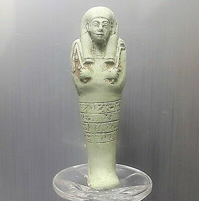 Rare Antique Ancient Egyptian faience ushapti b (1500-1000 BC)