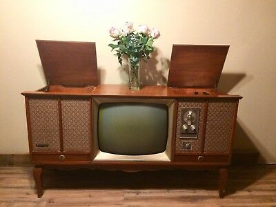 Vintage Emerson Tv, Radio, Phono WORKING Great Condition with Original Paperwork