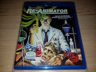 Re-Animator (1985) (Blu-ray Disc) H.P. Lovecraft's Jeffrey Combs Mint