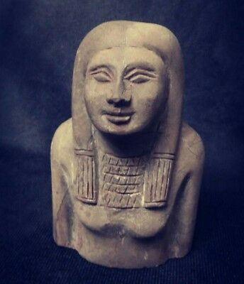 Rare Ancient Egyptian great half statue (1500-1000 BC))