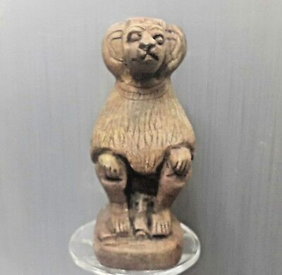 Rare  Antique Ancient Egyptian statue BABOON (600-1000 BC )