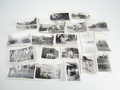 WWII 1940's Hawaii Photos Pictures Military Scenery Hula Dancers Lot of 19 Photo