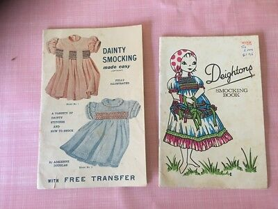 VINTAGE Smocking Books - Deightons and Douglas