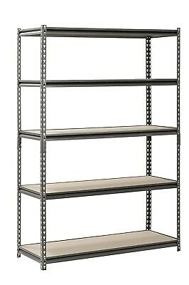 Muscle Rack UR481872PB5P-SV Silver Vein Steel Storage Rack, 5 Adjustable...