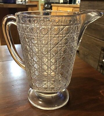 Large Vintage Depression Era Imperial Glass Water Pitcher