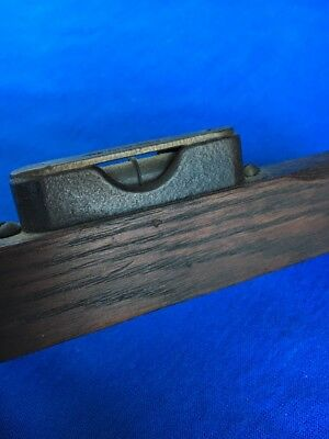 Vintage Antique Small Millers Falls Cast Iron & Brass Bubble Wood Level 1880 Old