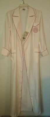 Dynasty Hong Kong Silk Womens Robe Vintage Ivory