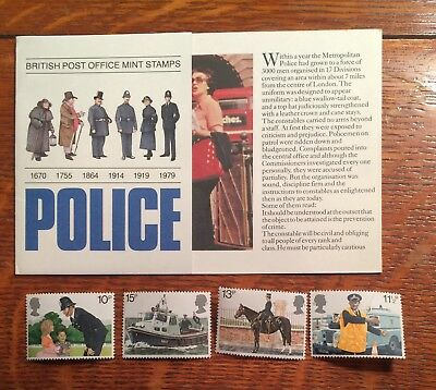 postage Stamps British post office Police stamps lot of 4 MNH