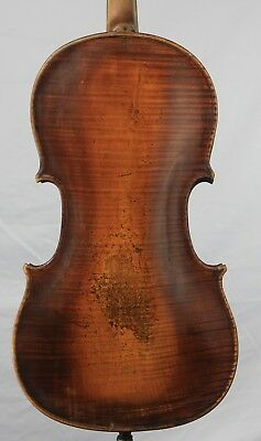 Vintage Old antique 4/4 German Violin Mittenwald One Piece Back