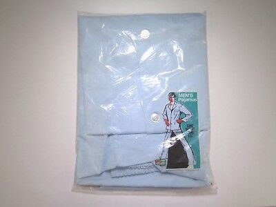 Men 50s 60s Vintage New Old Stock Kmart Sea Blue Pajamas sz Large