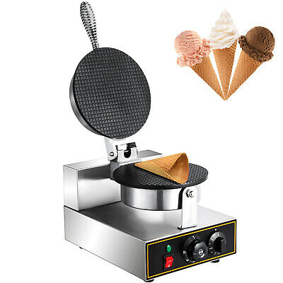 Commercial 110v Electric Nonstick Ice Cream Waffle Cone Baker Maker Machine