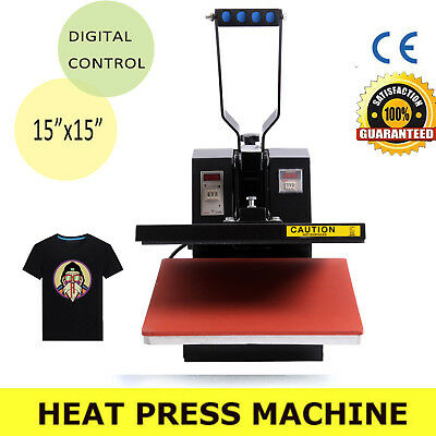 "DIY Heat Press T-Shirt Heat Transfer Sublimation Machine 15"" x 15"" Clamshell"