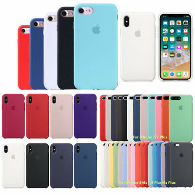 Original Silicone Cover Luxury Ultra-Thin Case For Apple iPhone 6 6s 7 8 Plus X
