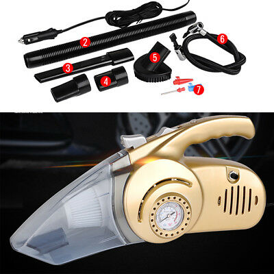 Washable Car Handheld Cyclonic Vacuum Cleaner LED Light Wet & Dry Duster 100W