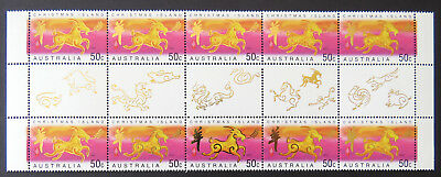2003 Christmas Island Stamps - Lunar New Year - Year of Goat-Gutter 10x50cTabMNH