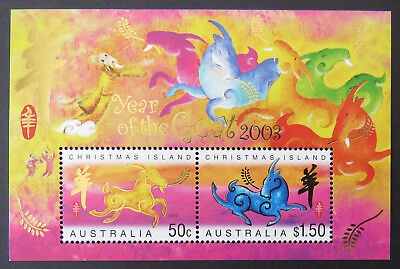2003 Christmas Island Stamps - Lunar New Year-Year of the Goat Mini Sheet MNH