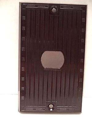 Despard brown single switch plate cover Bryant vtg bakelite ribbed deco lines