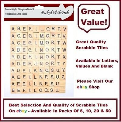 wooden scrabble letters tiles arts crafts choose from 5 10