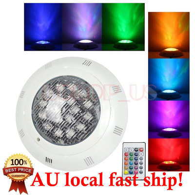 7 Color 24V 252 LED RGB Underwater Swimming Pool Bright Light & Remote Control