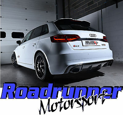 Milltek Audi RS3 8v Sportback Cat Back Exhaust NON VALVE Non Res Polish SSXAU719
